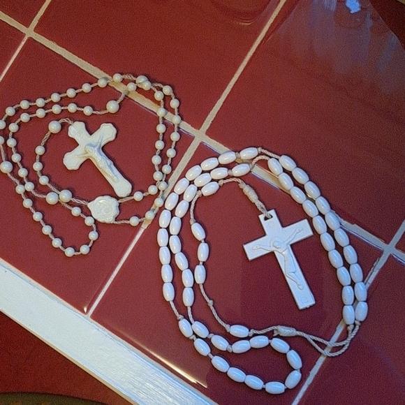 Vintage Plastic Bead Rosary